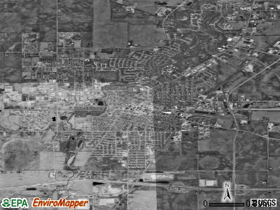 DeKalb satellite photo by USGS