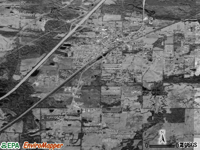 Ward satellite photo by USGS