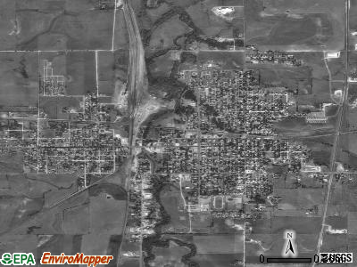 Herington satellite photo by USGS