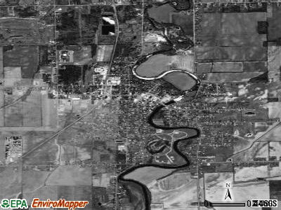 Chesaning satellite photo by USGS