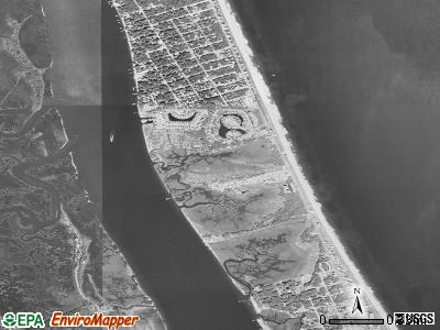 Villano Beach satellite photo by USGS