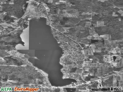 Conneaut Lakeshore satellite photo by USGS