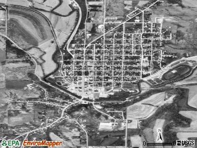 Darlington satellite photo by USGS