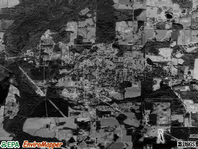 Graceville satellite photo by USGS