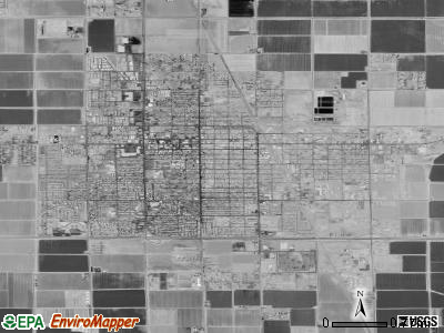 El Centro satellite photo by USGS