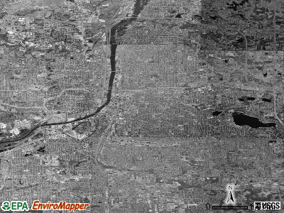 Grand Rapids satellite photo by USGS