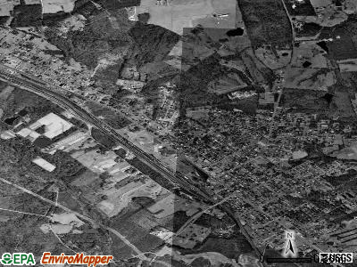 Crewe satellite photo by USGS