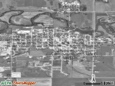 Flandreau satellite photo by USGS
