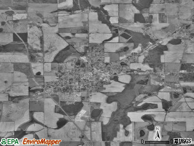 Hartford satellite photo by USGS