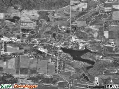Hortonville satellite photo by USGS