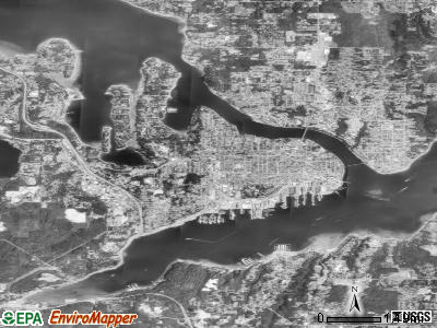 Bremerton satellite photo by USGS