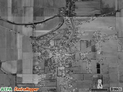 Cottonport satellite photo by USGS