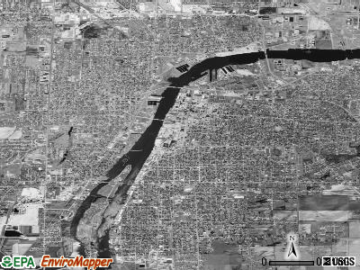 Bay City satellite photo by USGS