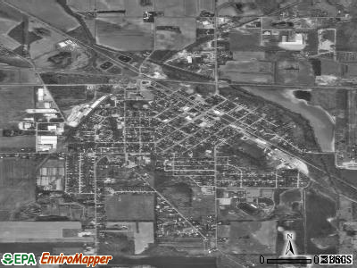 Walkerton satellite photo by USGS