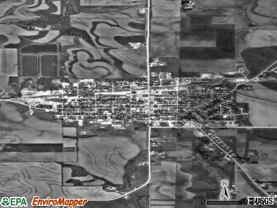 Postville satellite photo by USGS