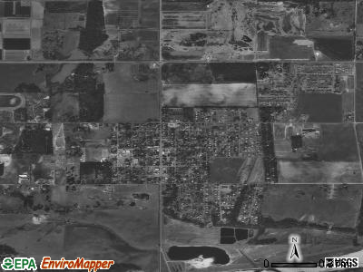 Perkins satellite photo by USGS