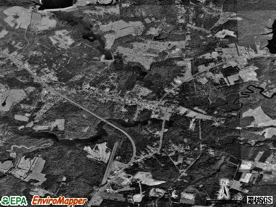 Gloucester Courthouse satellite photo by USGS