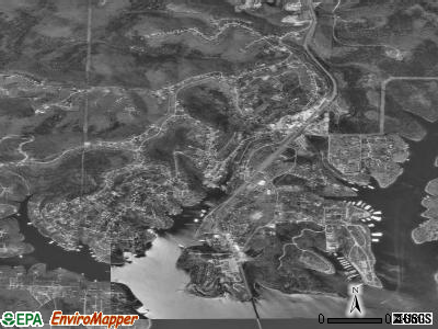 Kimberling City satellite photo by USGS