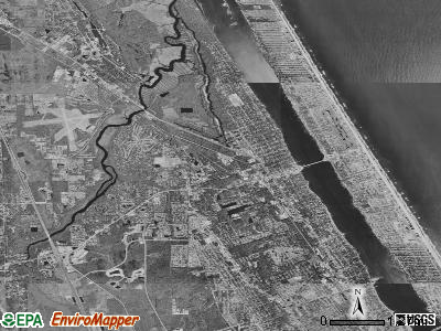 Ormond Beach satellite photo by USGS