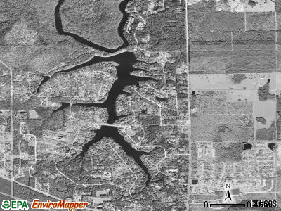 Asbury Lake satellite photo by USGS