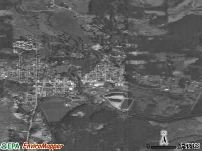 Vernonia satellite photo by USGS