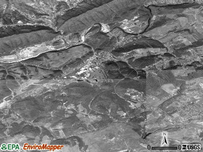 Saltville satellite photo by USGS
