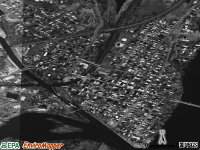 Waterford satellite photo by USGS