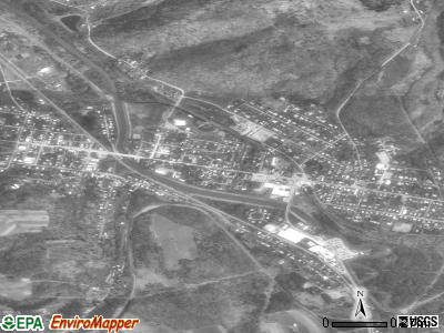 Brockway satellite photo by USGS
