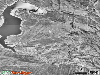 Lake Nacimiento satellite photo by USGS