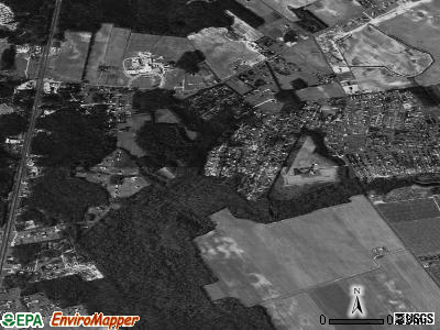 Woodside East satellite photo by USGS