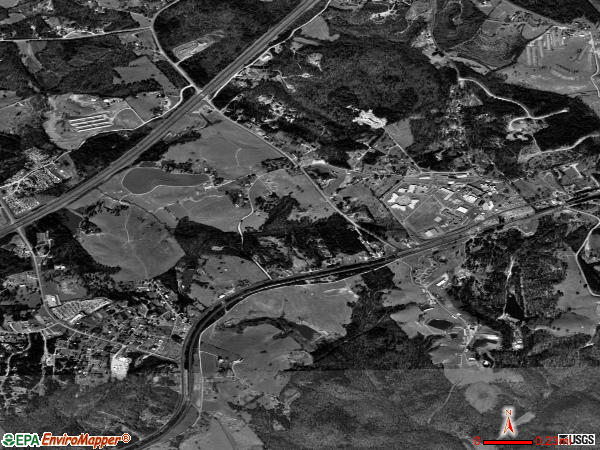Raoul satellite photo by USGS