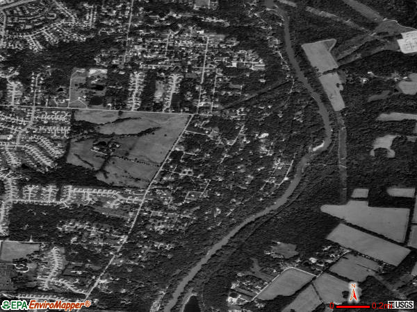 Loveland Park satellite photo by USGS 