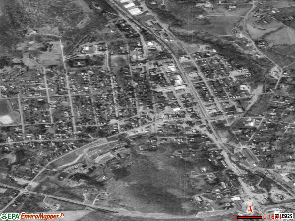 Franklinton satellite photo by USGS