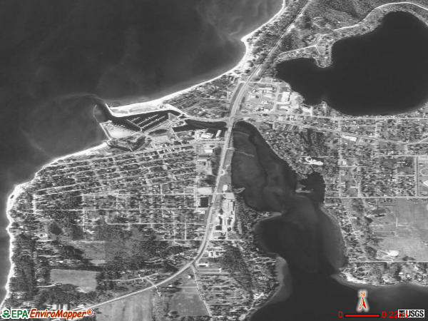 Elk Rapids satellite photo by USGS