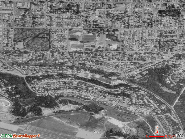Del Rey Oaks satellite photo by USGS