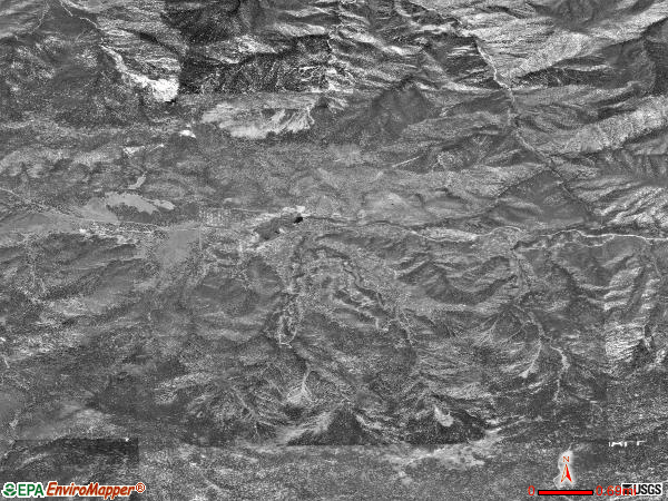 Pine Mountain Club satellite photo by USGS 