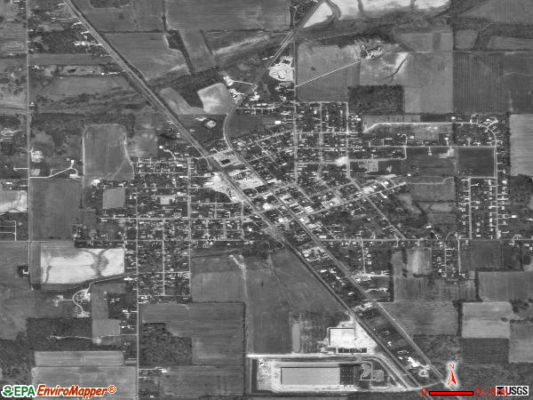 Crothersville satellite photo by USGS