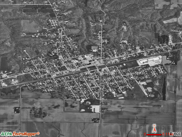 Colchester satellite photo by USGS 