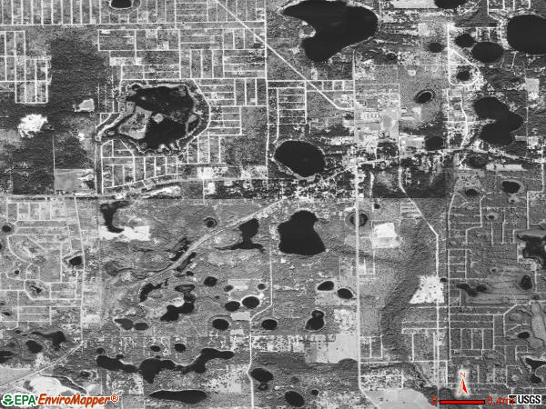 Interlachen satellite photo by USGS 