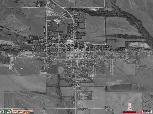 Sidney satellite photo by USGS 
