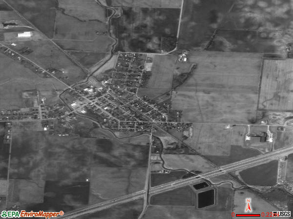 Jeffersonville satellite photo by USGS 