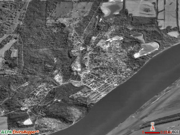 Rosiclare satellite photo by USGS