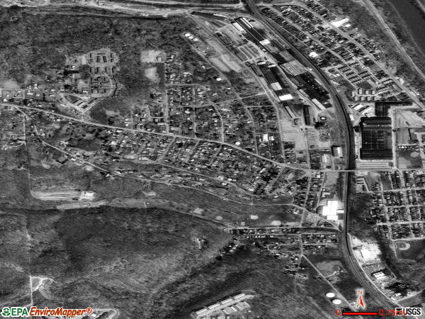West Mayfield satellite photo by USGS 