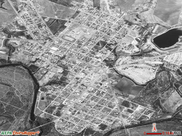Robert Lee satellite photo by USGS 