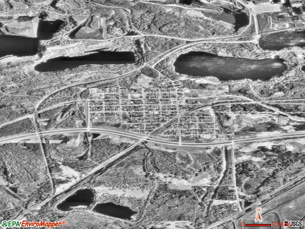 Keewatin satellite photo by USGS