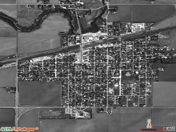 Shelton satellite photo by USGS 