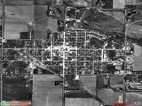 Burwell satellite photo by USGS 