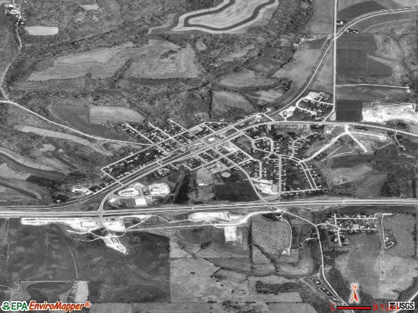 Barneveld satellite photo by USGS 