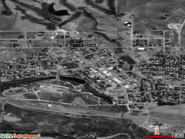 Harlowton satellite photo by USGS