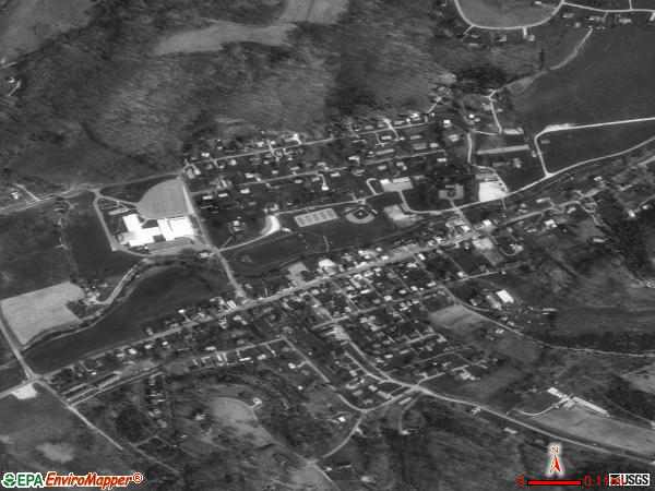Lanesville satellite photo by USGS